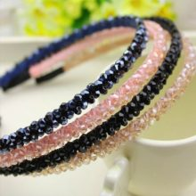 Elegant Women's Headband with Colorful Crystals