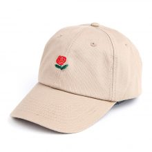 Women's Rose Embroidered Baseball Cap