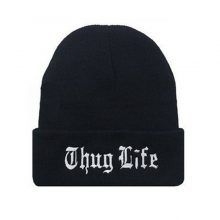 Thug Life Embroidered Beanie Hat