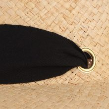 Women's Sun Straw Hat With Black Ribbon
