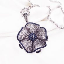 Vintage Flower Long Pendant Necklace