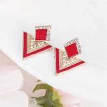 Luxury Enamel and Rhinestone Party Earrings