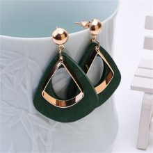 Women's Gold and Black Fashion Earrings