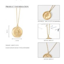 Women's Gold Pendant Necklace
