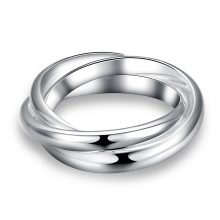 Stylish Twwisted Silver Ring