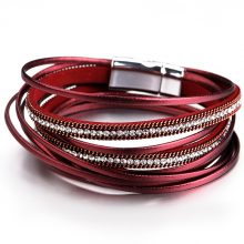 Bright Multilayer Women's Leather Wrap Bracelet
