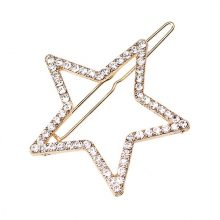 Lovely Minimalistic Rhinestone Star Hair Clip