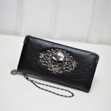 Women's Lace Skull Wallet