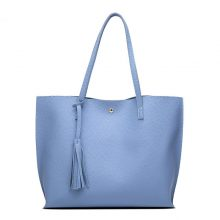 Women's Soft PU Leather Tassel Tote Handbag