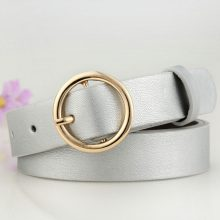Women's Round Metal Leather Belts