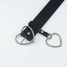 Heart Patterned Leather Belt