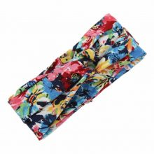Knot Floral Patterned Elastic Headband for Women